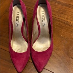 Moda Hot Pink Suede Pumps - Sz 7.5